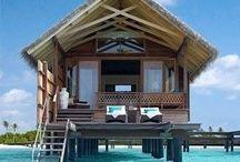Little shacks on the beach