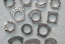 Jewelry - Washer Rings / Washer rings are pierced from a single sheet of metal. Also known as Silhouette or Seamless rings.