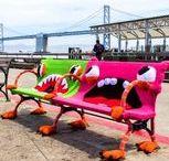 Urban Knitting - Guerrilla Knitting - Yarn Bombing / IL RAMO D'ORO Arte e Cultura di tutto il mondo - Art and Culture of the World (Italiano & English) - Info https://ilramodoro-katyasanna.blogspot.it/p/il-ramo-doro-un-blog-in-italiano-e.html
