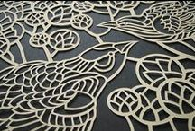 Paper Art and Stationery / Pretty stationery, cut paper sculpture, calligraphy and typography.