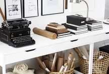 Dream Home - Office / Studio / Craft Room / Our dream monochrome office and studio space.