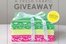 G I V E A W A Y S | W I N S D A Y / All of Camelot Fabric's Giveaways on our Camelot Fabrics Blog :)