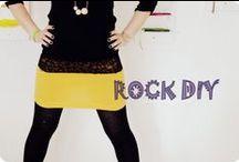 5 minuten rock / viele bunte röcke nach dem GrinseStern 5 minuten rock DIY