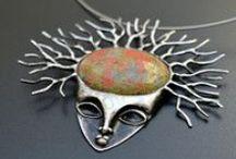 Soldered jewelry by Abraka Gabra (Gabriela Radová) / The jewelery with stones, handcrafted by soldering.  www.abraka-gabra.com www.fler.cz/abraka-gabra   necklace