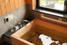 水廻り / 木の暖かさを感じる風呂/トイレ/洗面所。愛知県一宮市の設計事務所です。#和風建築 #和風住宅 #トイレ #洗面 #風呂