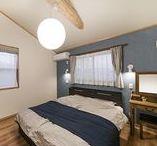 寝室 / お好みのインテリアで彩られる寝室。和風住宅でも、寝室だけは洋風。和風住宅だからこそ寝室も和風。#和風住宅 #寝室 #インテリア #設計事務所 #菅野企画設計