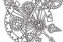 Схемы и шаболоны / Схемы и шаблоны для контурной вышивки и блэкворка