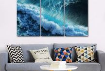 Octo Treasures 2016 Catalog / Ideas for your wall, check out some of the multi panel wall canvas. These multi panel canvas are unique and creative, you and your guests will be amazed every time you enter the room.