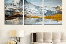 3 Panel Wall Art / Ideas for your wall, check out some of the multi panel wall canvas. These multi panel canvas are unique and creative, you and your guests will be amazed every time you enter the room.