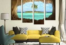 4 Panel Wall Art / Ideas for your wall, check out some of the multi panel wall canvas. These multi panel canvas are unique and creative, you and your guests will be amazed every time you enter the room.