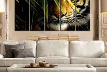 Animal Wall Art / Ideas for your wall, check out some of the multi panel wall canvas. These multi panel canvas are unique and creative, you and your guests will be amazed every time you enter the room.