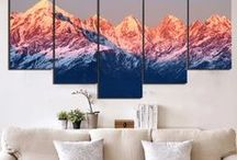 Nature Landscape Wall Art / Ideas for your wall, check out some of the multi panel wall canvas. These multi panel canvas are unique and creative, you and your guests will be amazed every time you enter the room.