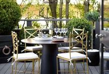 Outdoor Patio Ideas / Welcoming outdoor entertaining spaces featuring design, decorating and styling inspiration, tips and trends. Gorgeous interior design photography curated by Arianne Bellizaire.
