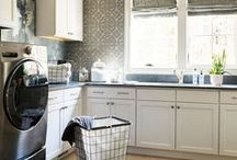 Laundry Room Ideas / Laundry room design, decorating and styling inspiration, tips and trends. Gorgeous interior design photography curated by Arianne Bellizaire.