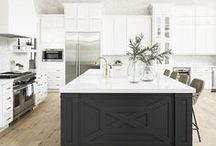 Kitchen Ideas / Luxury kitchen design, decorating and styling inspiration, tips and trends. Gorgeous interior design photography curated by Arianne Bellizaire.