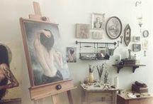 Art Studio / Artist studio pins.