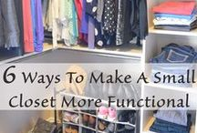 Closets Uncluttered / Less is more! Great spaces for functionality, fashion and more