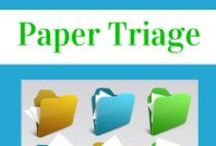 Paper, paper, everywhere / Overwhelmed by paper?  Rein it in!  Knock it out!