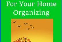 Fall into Fall Organizing / Get ready for the season with these organizing ideas.
