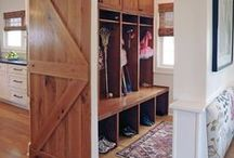 Mudroom Ideas / Mudroom design, decorating and styling inspiration, tips and trends. Gorgeous interior design photography curated by Arianne Bellizaire.