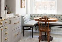 Banquette Seating In Kitchen / Breakfast nook banquette design, decorating and styling inspiration, tips and trends. Gorgeous interior design photography curated by Arianne Bellizaire.