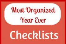 Your Most Organized Year Ever / 31 tips to make this your most organized year ever