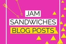 Jam Sandwiches | The Best Blog Posts from jamsarnies.com / ❤️ Pinterest marketing and blogging tips ❤️ Helping bloggers, solopreneurs, work at home moms achieve their dreams ❤️ Strategies for small business owners ❤️ Tailwind scheduling tool ❤️ Step by step tutorials for beginners ❤️ Wordpress design ideas and inspiration ❤️