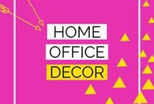 Home Office Decor / ❤ Home office ideas. ❤ Organization ideas for small home offices. ❤ Desk inspiration. ❤ DIY workspace makeover transformations.❤ Bright and chic interior design. ❤ Love where you work. ❤