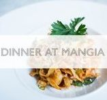Dinner at MANGIA / when you had a long busy day, no one wants to go home to tackle their kitchen to prepare dinner. Come have dinner at MANGIA and enjoy a signature pasta dish and a glass of wine!