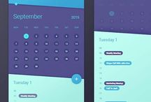 UX & UI / Inspiration for user experience design and the visual interface.