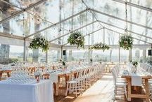Seaside Tented Receptions We Love / Wedding Reception Details, Oceanfront tented events