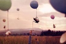 Balloons, Parasols, Swings & Umbrellas (Up, up and away......!) / I ♥ playing in the sun! / by Marianne de Bourg