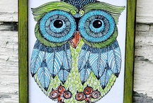 "Art Mine!!  / My Art!! My daughter Emily wants to take my ""Owl Art"" and ""Flower Designs"" Oh plus my a ""Abstract Art"" to ""Surtex"" in New York""!! I am a published Artist in 28 Somerset Art magazines!!  / by Lynnette Cooper"