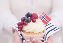 17. mai - National Day food and celebration tips and ideas / ♥ 17. mai ♥ May 17th ♥ Norway's birthday! ♥ Red, white & blue ♥ National Day ♥ / by Marianne de Bourg