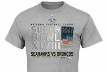 Super Bowl XLVIII Apparel / These are the jersey's, hats, t-shirts and accessories licensed by the NFL for 2014 Super Bowl XLVIII played at MetLife Stadium in New Jersey.
