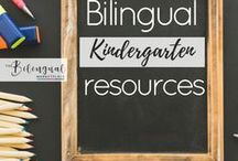 Bilingual Kindergarten Resources / You'll find a variety of activities,resources and ideas related to dual/bilingual kindergarten students.