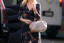 Summer wardrobe inspiration / Kate Bosworth in a dress similar to Gestuz Marline long  dress
