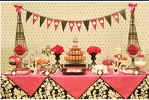 Birthday Party: Black and White... with a hint of pink!