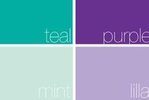teal / purple - mint / lilla