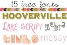 Fonts / by Brooke Steel Romriell