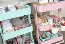 Girly Creative Home Office / Craft Room