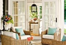 Porches/Sunrooms/Patios / Someday I hope to add a patio, back porch or even a sunroom!  Until then, I continue to pin every gorgeous one I see!