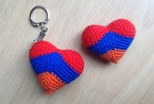 Kapan Crochet / Started two years back, Kapan Crochet is a small group of when who produced very high quality crocheted items, mostly baby rattles and squeakers that rapidly sell out.  They are also famous for their Armenian flag heart shaped key tags and magnets.