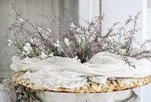 F R E N C H | N O R D I C  / Beautiful white weathered home decor in French Nordic style.