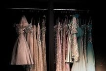 Dreamy Closets / Nevermind what your actual closet looks like, let's just dream we all have rotating shoe displays and gold accented everything.