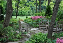 Yard♥Scape♥Seat / These would be the ultimate landscapes for my yard!