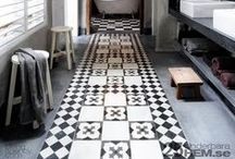 CEMENT TILES / They're not all cement tiles but they are all patterned and they look fabulous in any interior whether it's contemporary or traditional. Patterned tiles soften a room that is often full of hard lines like kitchens and bathrooms and bring more personality.