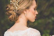 Wedding hair / Inspirações de penteados para casamento.