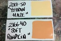 Colour Combinations / Our favourite paint mixes from the day!
