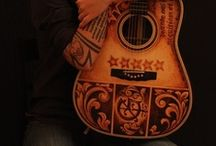 Hand Painted Guitars, Ukuleles and art / Featuring some fine hand painted handcrafted guitars and ukuleles and lots more
